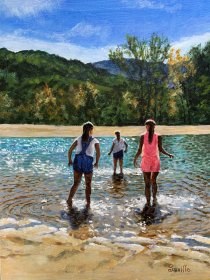 "Richard Knowles ""Saville"": ""Testing the Water"", Aqua Park, Quillan, Aude Valley"